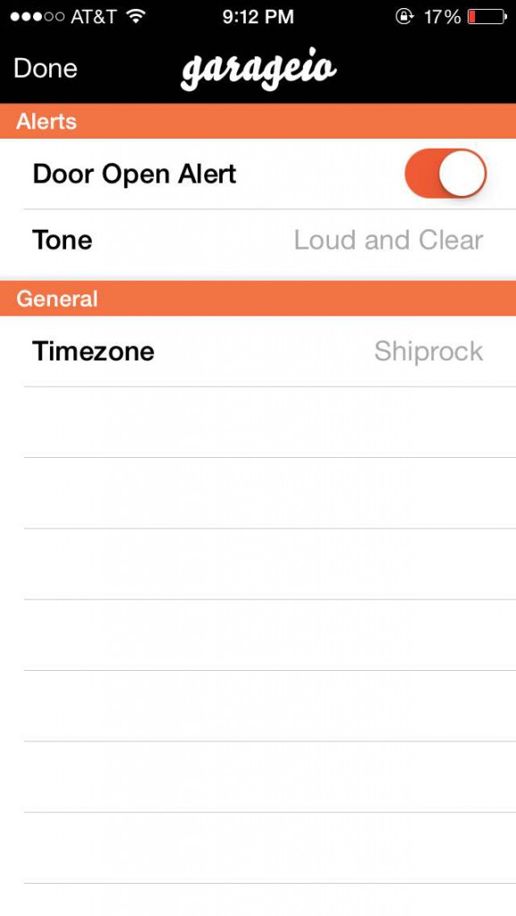 iOS App 2.0 - Settings Screen